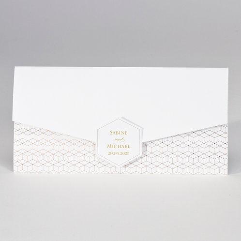 Hochzeitskarte im Taschenlook mit geometrischem Design – Büromac