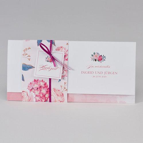 Hochzeitskarte mit Blumenbanderole – Büromac