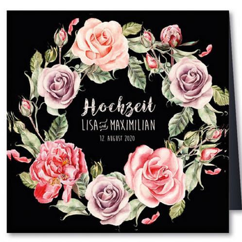 Einladungskarten mit Blumenkranz – Fenzl
