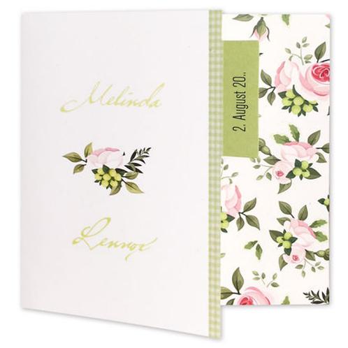 Hochzeitseinladung mit stilisierten Blüten – Fenzl