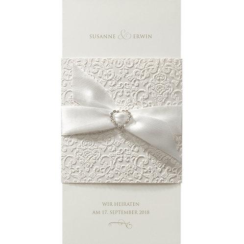 Luxuriöse Hochzeitseinladung mit Banderole  – Belarto