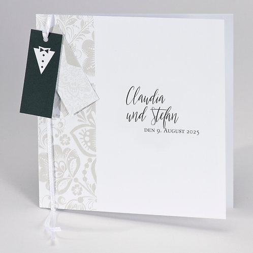 Hochzeitskarte mit Brautkleid & Anzug Anhänger – Büromac