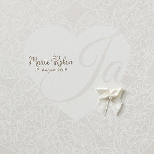 Hochzeitseinladung auf Perlmuttpapier – Belarto