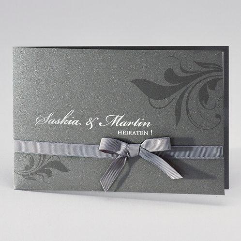 Elegante Einladungskarte mit Ornamentdruck – Büromac