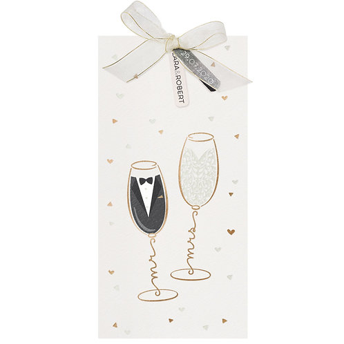 Mr. & Mrs. in einem Champagnerglas – Belarto