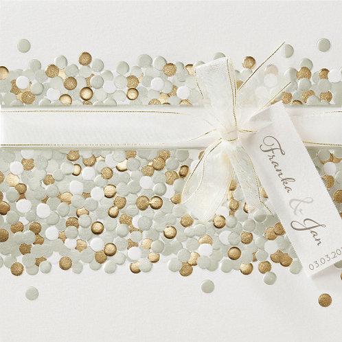 Hochzeitseinladung mit Punkten und echtem Glitzer – Belarto