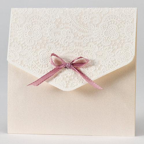 Hochzeitstasche mit Klappe aus Spitze & rosa Band – Büromac