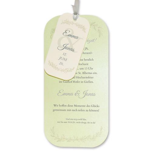Hochzeitseinladung mit kleinen Zweigen – Fenzl