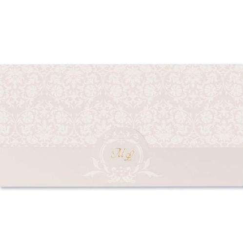 Einladungskarte in Rosa mit Blumendruck – Fenzl