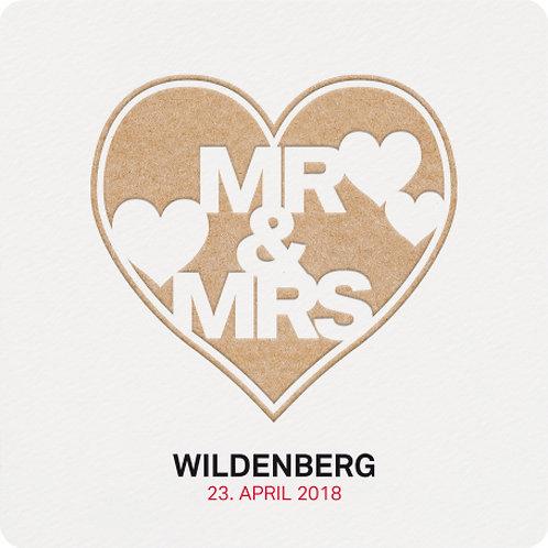 Hippe Hochzeitseinladung mit trendiger Typografie – Belarto