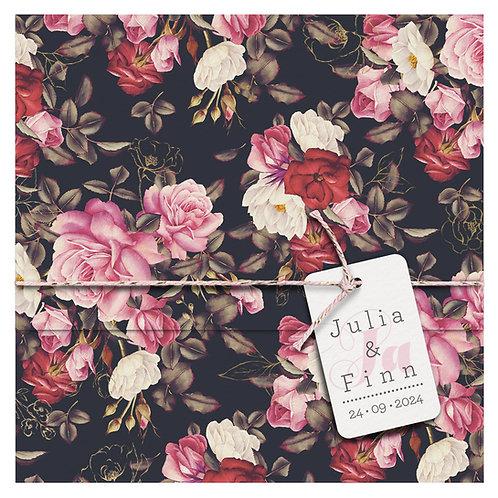 Hochzeitskarte Blumenpracht – Belarto