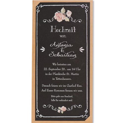 Hochzeitseinladung in Kreideoptik – Fenzl
