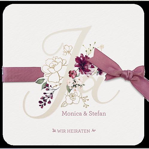 Hochzeitskarte Romantisch Ja – Belarto