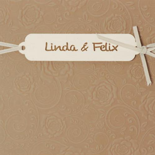 Einladungskarten mit dezentem Blumenmotiv – Fenzl