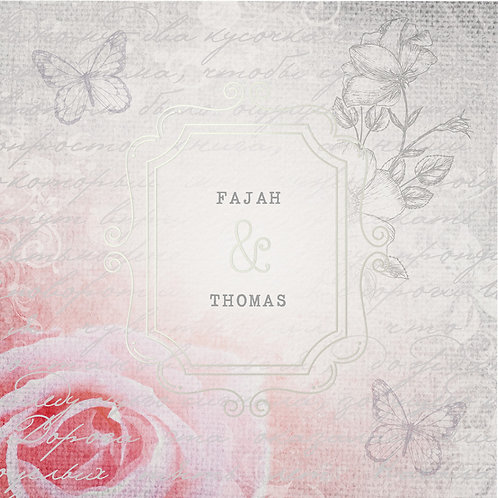 Hochzeitseinladung Romantische Rose – Belarto