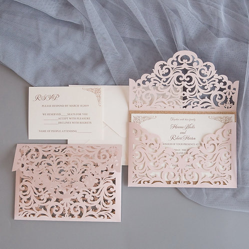 Lasercut Hochzeitseinladungen – Ukarten
