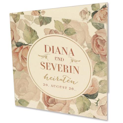 Hochzeitseinladung mit Blumenprint – Fenzl