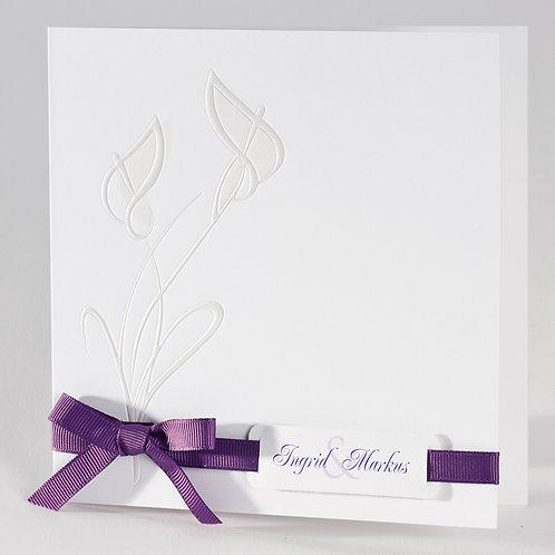 Hochzeitskarte mit perlmuttfarbenen Kallas – Büromac