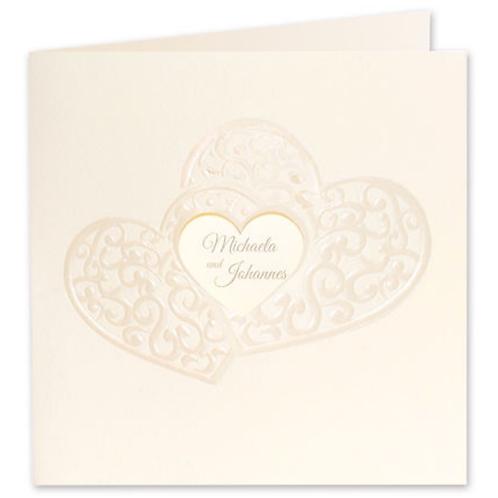 Hochzeitseinladung mit ausgeschnittenem Herz – Fenzl