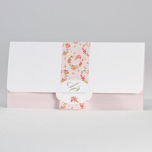 Romantische Karte mit rosa Blumenmotiv – Büromac