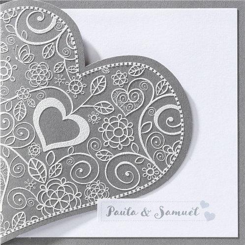 Hochzeitseinladung mit zierlichem Herzen – Belarto