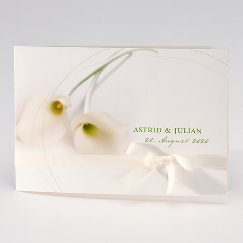 Romantische Hochzeitskarte mit Kallas – Büromac