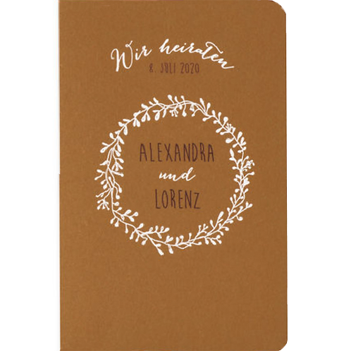 Hochzeitseinladung auf Kraftpapier – Fenzl