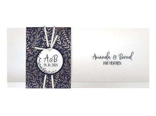 Hochzeitskarte Goldene Zweige – Belarto