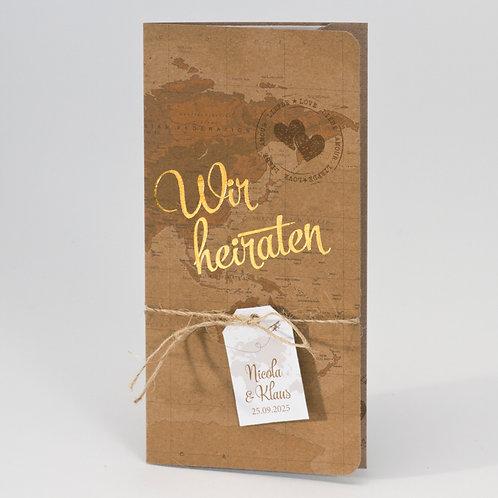 Hochzeit Flugticket aus Kraftpapier – Büromac