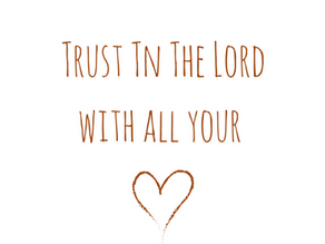 Let not your heart be troubled....