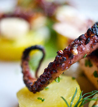 Grilled Octopus with Potatoes and Green