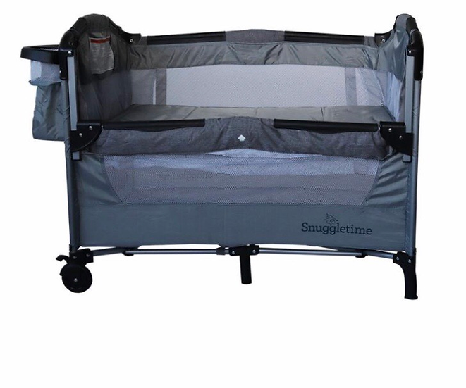 Snuggletime Deluxe Co-Sleeper & Camp Cot - Grey