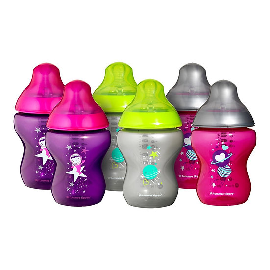 Tommee Tippee 6 x 260ml Decorated Bottles (0M+)