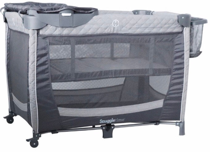 Snuggletime Camp Cot with Changer and Side Storage