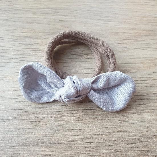 Light Grey Knotted Headband