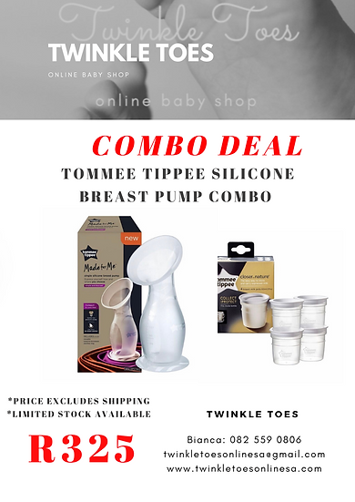 Tommee Tippee Silicone Breast Pump Combo