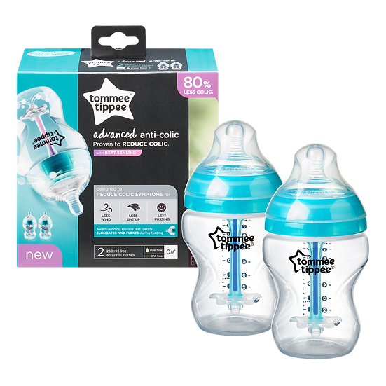 Tommee Tippee Advanced Anti-Colic 2 Pack Bottles - 260ml (0m+)