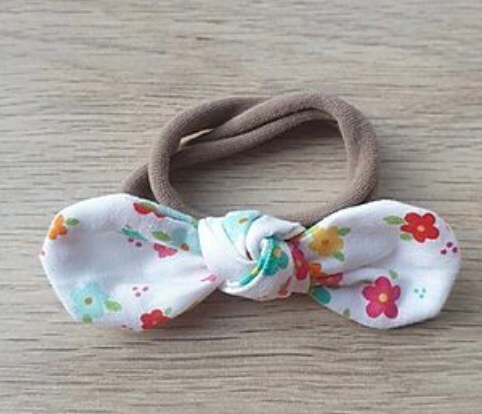 Rainbow Floral Knotted Headband