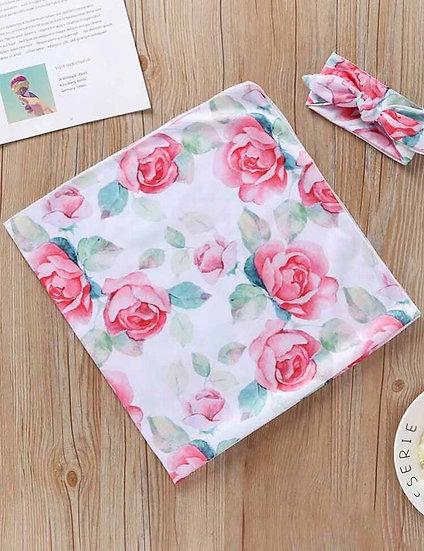 Newborn Floral Swaddle Set