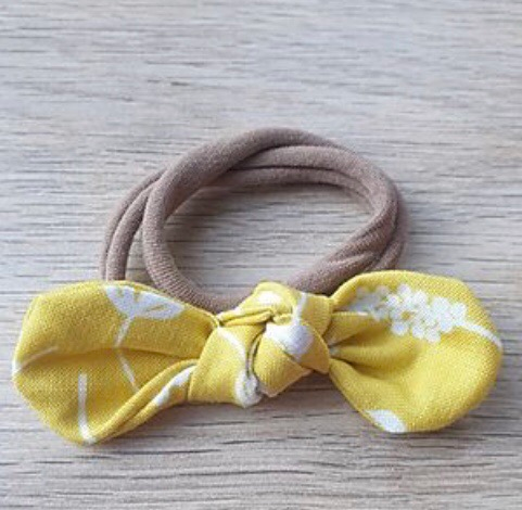 Yellow Floral Knotted Headband