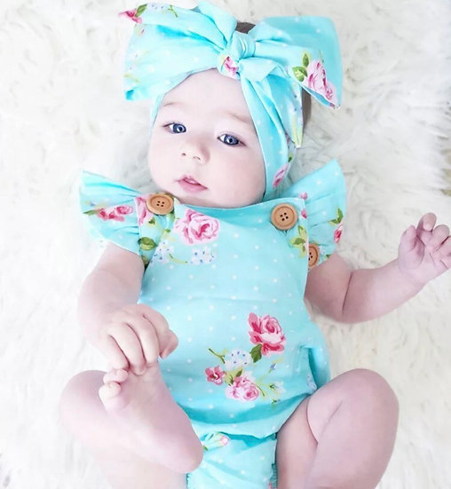 Blue Baby Jumpsuit and Headband