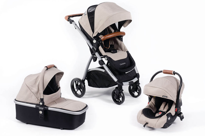 Baby Buggz Chariszma 3 in 1 Travel System - Sandstone