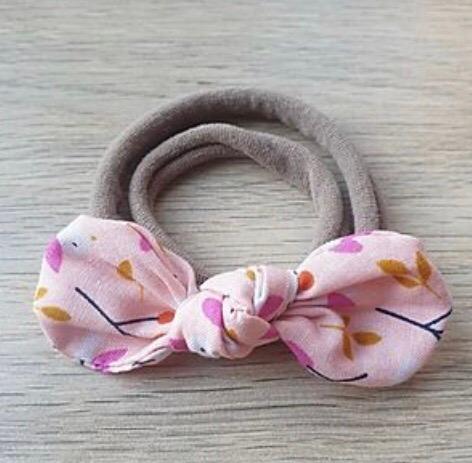 Pink Birds Knotted Headband