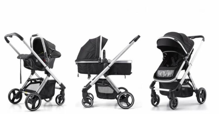 Baby Buggz Aura 3-in-1 Travel System - Black