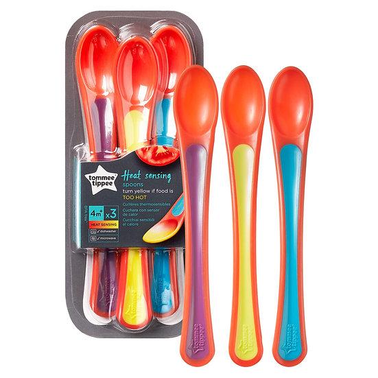Tommee Tippee Explora Heat Sensing Spoon - Pack of 3 (4m+)