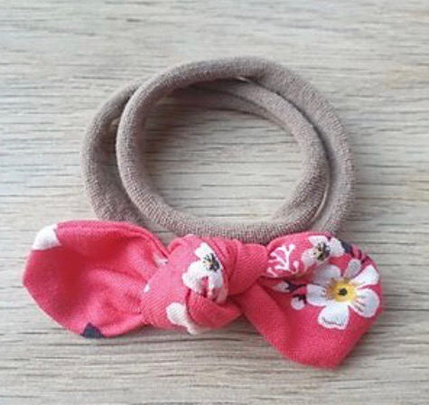 Coral Floral Knotted Headband