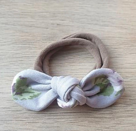 Lilac Floral Knotted Headband