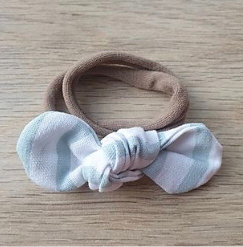 Duck Egg Striped Knotted Headband