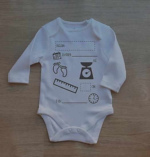 Birth Announcement Onesie - 0-3 months