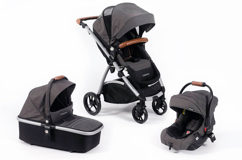 Baby Buggz Chariszma 3 in 1 Travel System - Charcoal